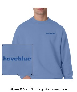 Light blue sweat with blue logo Design Zoom