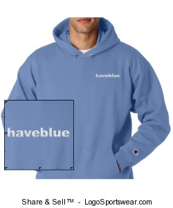 Hooded light blue sweat with white logo Design Zoom